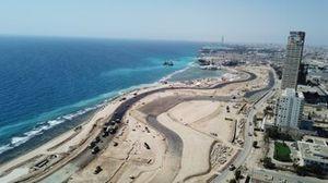 أعمال البناء في حلبة جدة للفورمولا واحد