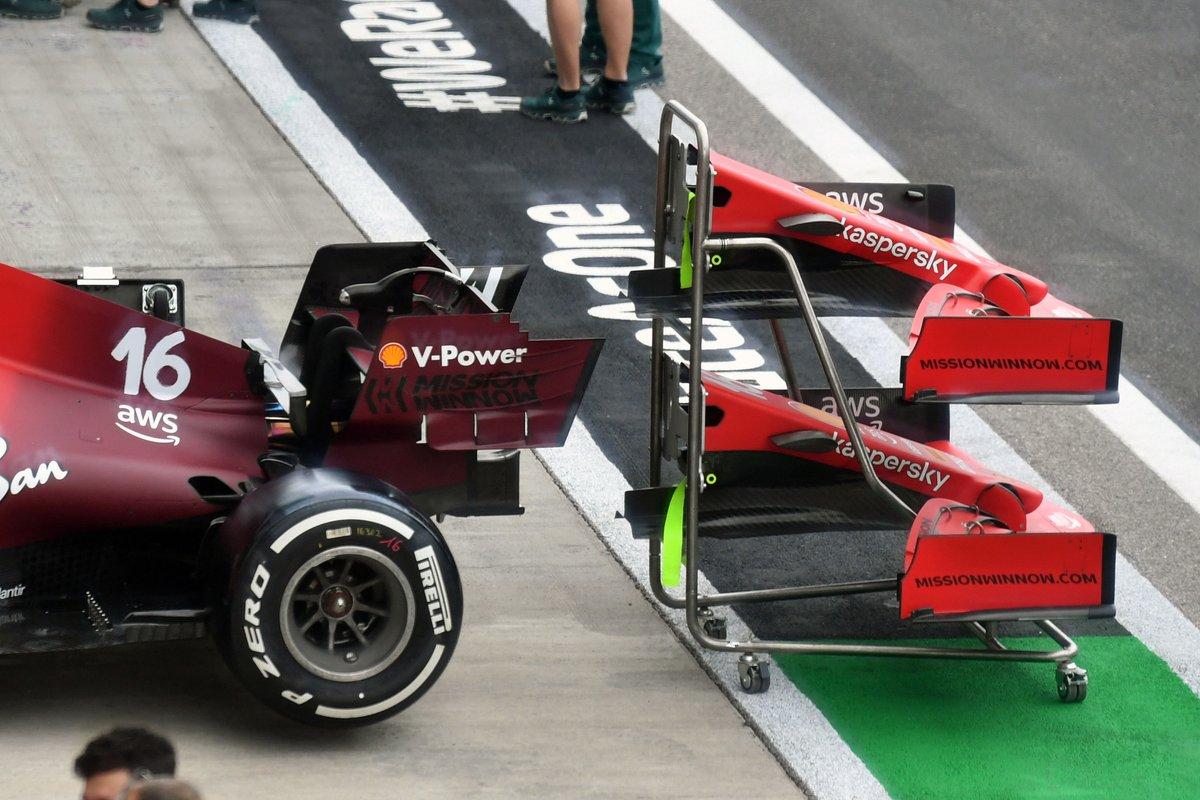 Alerón trasero y delantero del Ferrari SF21