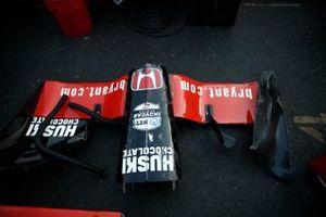 Muso danneggiato di Marcus Ericsson's Chip Ganassi Racing Honda