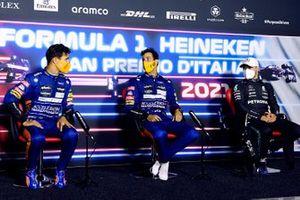Press conference: race winner Daniel Ricciardo, McLaren, second place Lando Norris, McLaren, third place Valtteri Bottas, Mercedes
