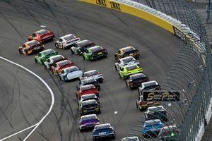 Daniel Hemric, Joe Gibbs Racing, Toyota Supra Poppy Bank and Justin Allgaier, JR Motorsports, Chevrolet Camaro BRANDT