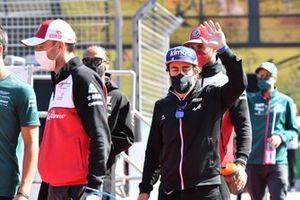 Robert Kubica, Test and Reserve Driver, Alfa Romeo Racing Fernando Alonso, Alpine A521 Driver's parade
