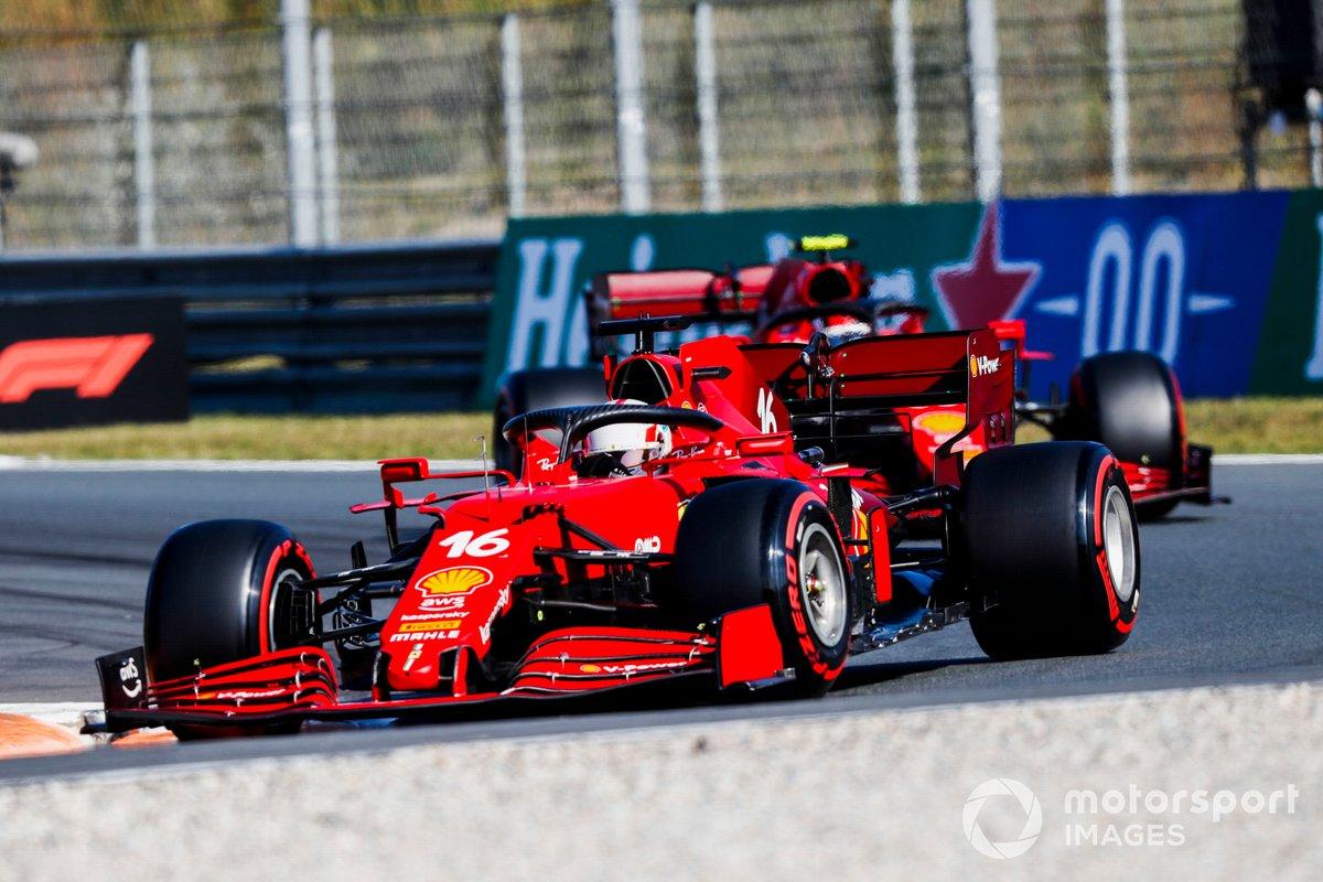 Charles Leclerc, Ferrari SF21, Carlos Sainz Jr, Ferrari SF21