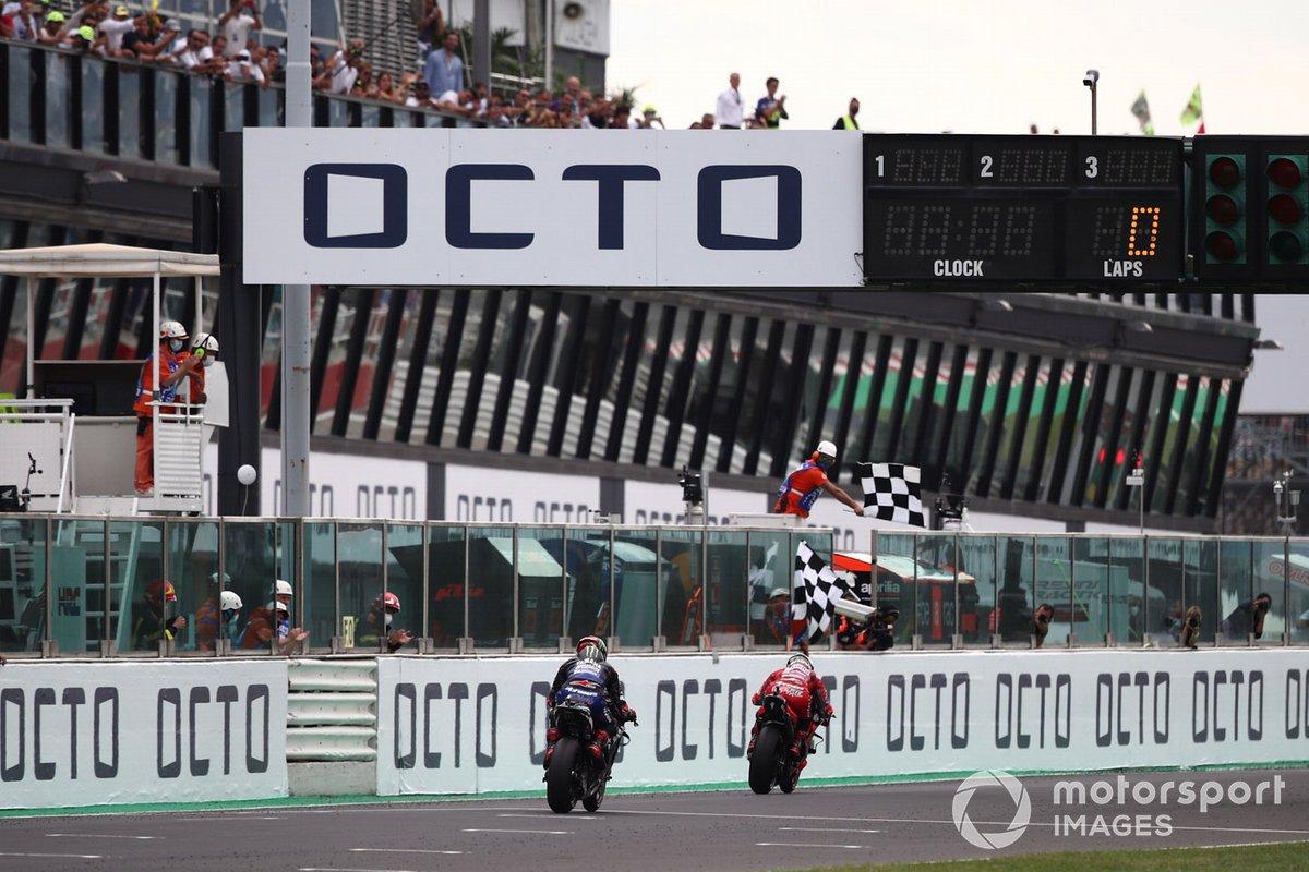 Francesco Bagnaia, Ducati Team, bandiera a scacchi
