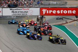 Start zum Grand Prix von Monterey der IndyCar-Saison 2021 auf dem Laguna Seca Raceway: Colton Herta, Andretti Autosport Honda, führt