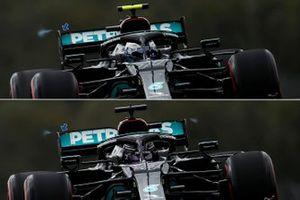 Сравнение вариантов заднего крыла Mercedes F1 W12