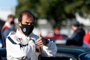 Emanuele Pirro gives a thumbs-up