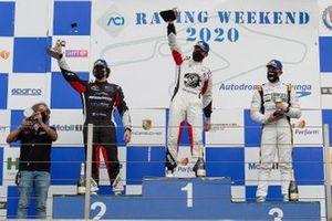 Podio: Gianmarco Quaresmini, Tsunami RT, Aldo Festante, Ombra Racing, Enrico Fulgenzi, EF Racing