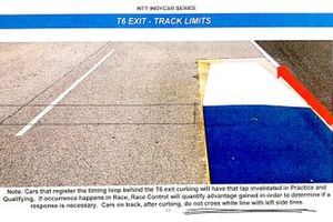 IndyCar rulebook: IMS road course turn 6 rule