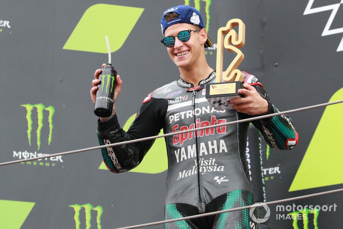 Podio: ganador Fabio Quartararo, Petronas Yamaha SRT