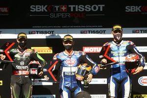 Jonathan Rea, Kawasaki Racing Team, Michael van Der Mark, Pata Yamaha, Loris Baz, Ten Kate Racing Yamaha