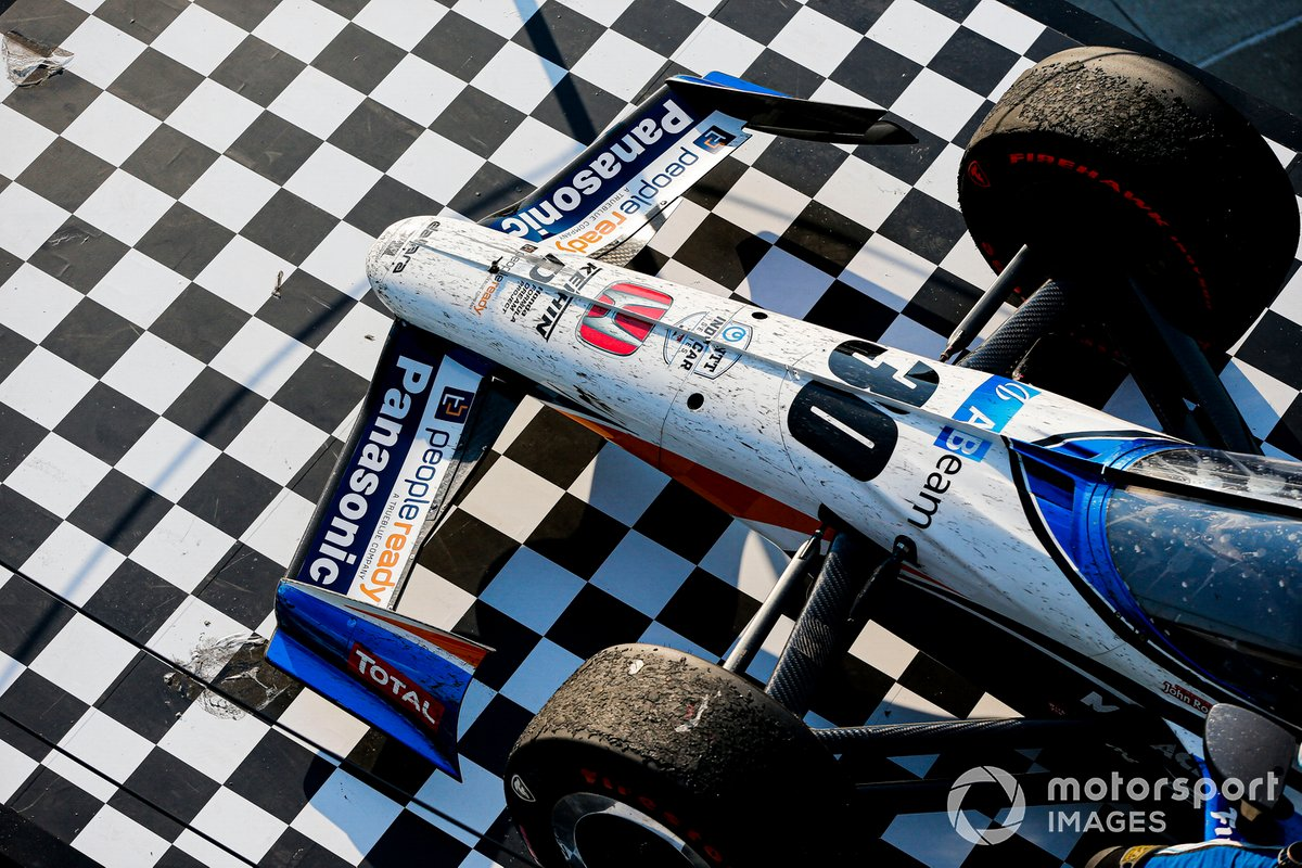 Ganador Takuma Sato, Rahal Letterman Lanigan Racing Honda