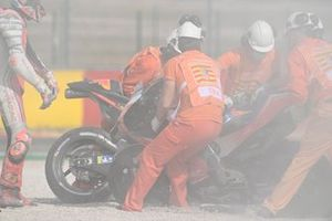Brad Binder, Red Bull KTM Factory Racing crash