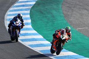 Chaz Davies, ARUBA.IT Racing Ducati, Toprak Razgatlioglu, Pata Yamaha