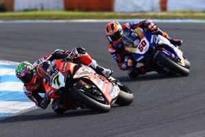 Chaz Davies, ARUBA.IT Racing Ducati, Michael van der Mark, Pata Yamaha