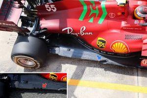 Ferrari SF21, dettaglio del fondo