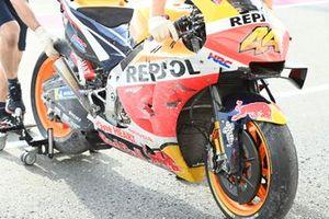 La Honda accidentée de Pol Espargaro, Repsol Honda Team