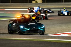 The Safety Car leads Juri Vips, Hitech Grand Prix, and Lirim Zendeli, MP Motorsport