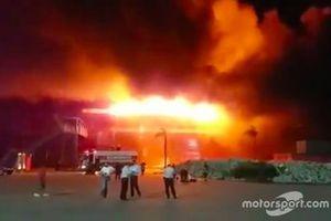 L'incendie sur le circuit de Termas de Río Hondo