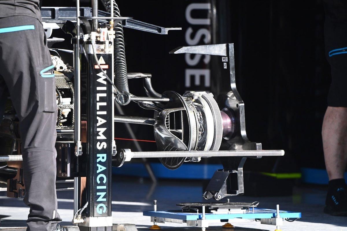 Detalhe do freio dianteiro da Williams FW43