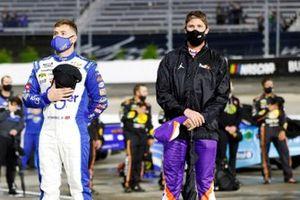 Ricky Stenhouse Jr., JTG Daugherty Racing, Chevrolet Camaro Kroger/Crest and Denny Hamlin, Joe Gibbs Racing, Toyota Camry FedEx Office