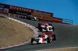 Helio Castroneves, Team Penske, Gil de Ferran, Team Penske, Dario Franchitti, Team Green, Michael Andretti, Newman/Haas Racing