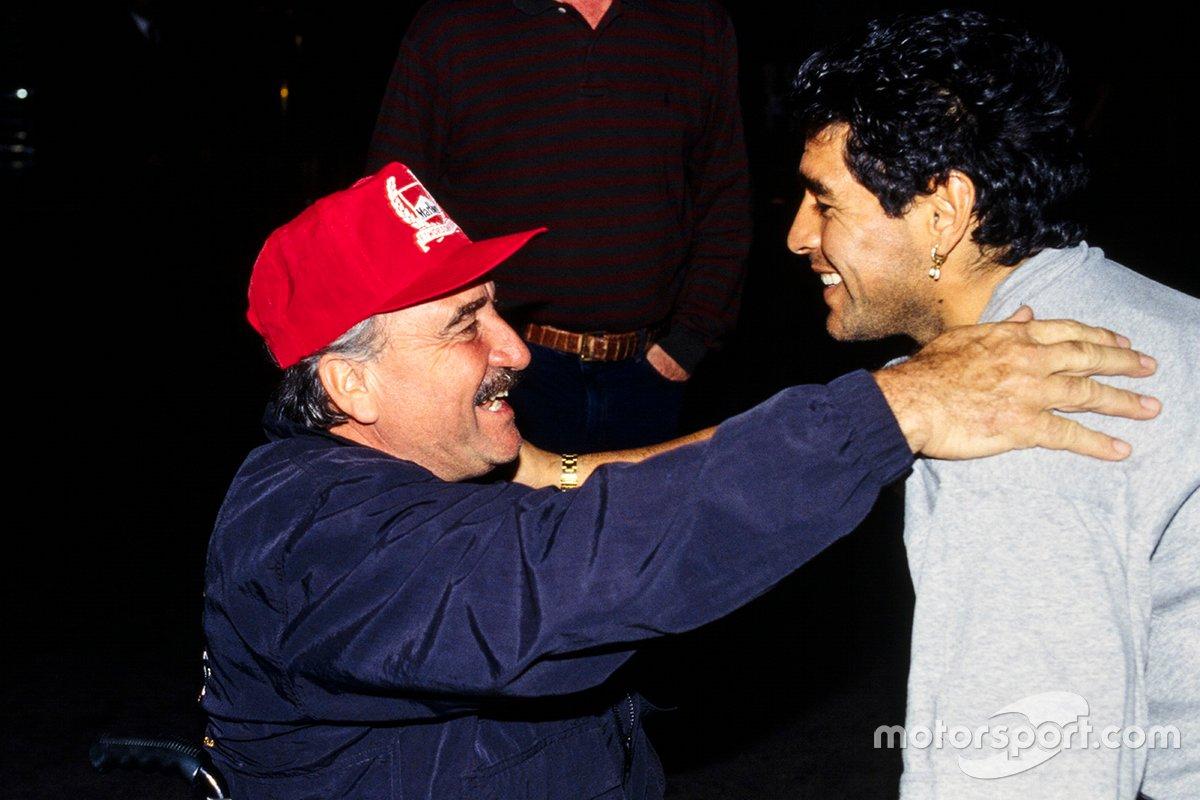 Clay Regazzoni con Diego Maradona