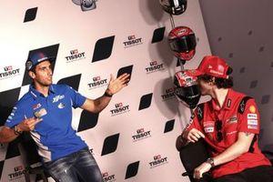 Alex Rins, Team Suzuki MotoGP Francesco Bagnaia, Ducati Team