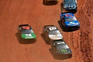 Kurt Busch, Chip Ganassi Racing, Chevrolet Camaro Monster Energy and Tyler Reddick, Richard Childress Racing, Chevrolet Camaro NASCAR Trucks at Knoxville