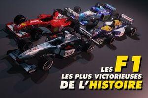 Les F1 les plus victorieuses de l'histoire