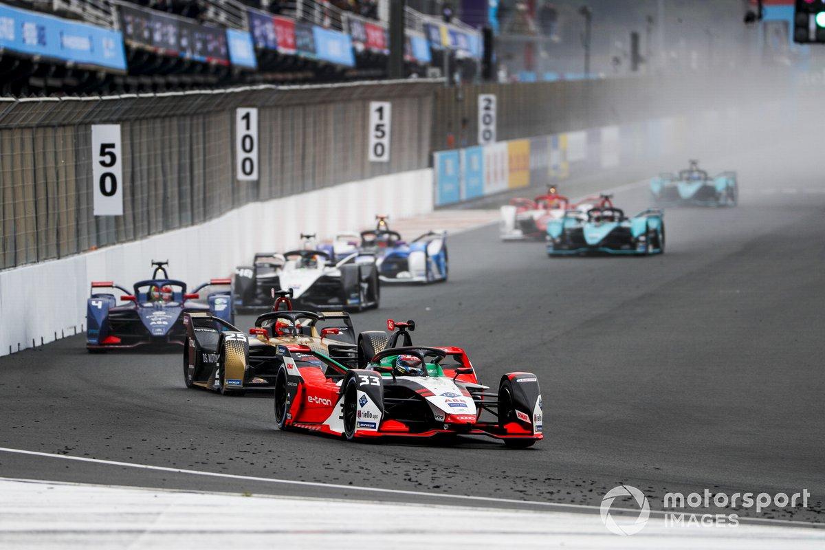 Rene Rast, Audi Sport ABT Schaeffler, Audi e-tron FE07, Jean-Eric Vergne, DS Techeetah, DS E-Tense FE21, Robin Frijns, Envision Virgin Racing, Audi e-tron FE07
