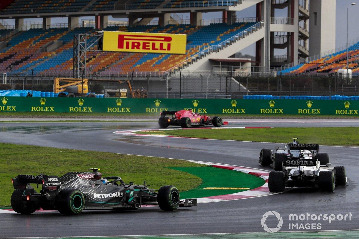 Kevin Magnussen, Haas VF-20, George Russell, Williams FW43, Valtteri Bottas, Mercedes F1 W11