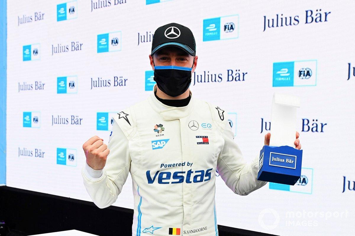 El poleman Stoffel Vandoorne, Mercedes Benz EQ