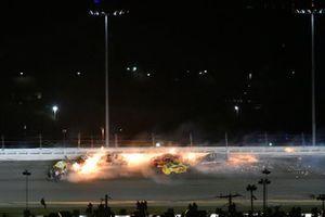 Brad Keselowski, Team Penske, Ford Mustang Discount Tire and Austin Cindric, Team Penske, Ford Mustang Verizon 5G wreck