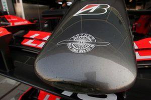 Logo Spyker su una Spyker MF1 Racing M16
