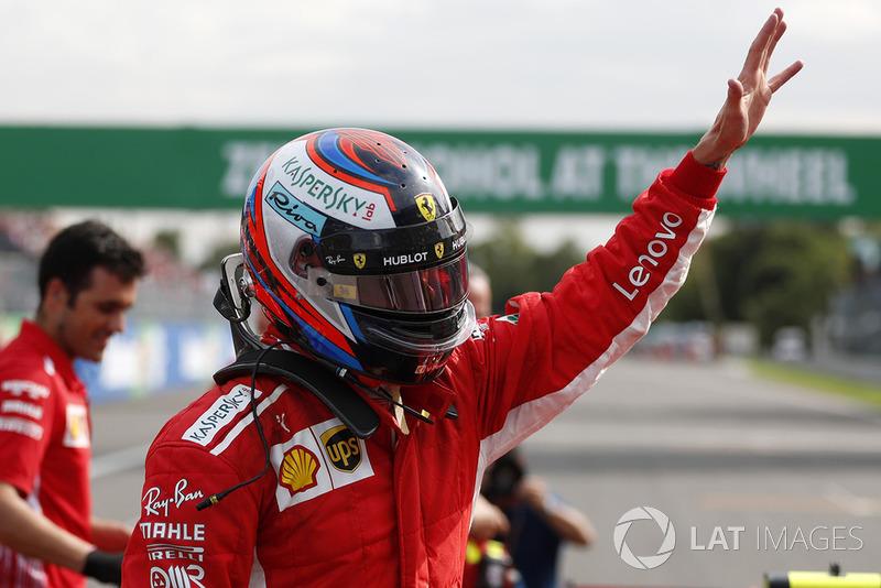 Raikkonen's straightforward reaction after taking pole
