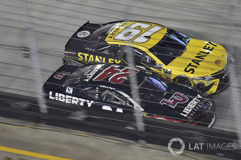 William Byron, Hendrick Motorsports, Chevrolet Camaro Liberty University and Daniel Suarez, Joe Gibbs Racing, Toyota Camry STANLEY