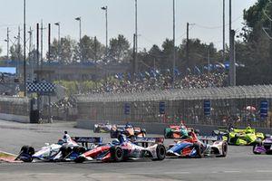 Pietro Fittipaldi, Dale Coyne Racing Honda, Tony Kanaan, A.J. Foyt Enterprises Chevrolet, Matheus Leist, A.J. Foyt Enterprises Chevrolet