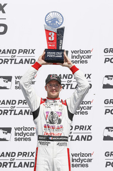 Sebastien Bourdais, Dale Coyne Racing with Vasser-Sullivan Honda, podium