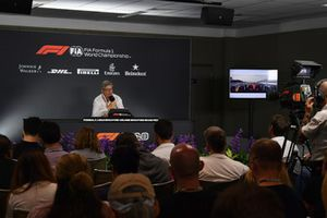 Ross Brawn, Managing Director of Motorsport, Formula Uno, in una conferenza stampa