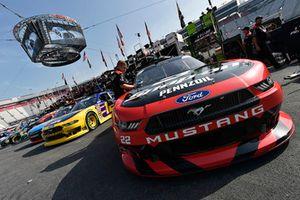 Joey Logano, Team Penske, Ford Mustang Snap on and Austin Cindric, Team Penske, Ford Mustang Pirtek
