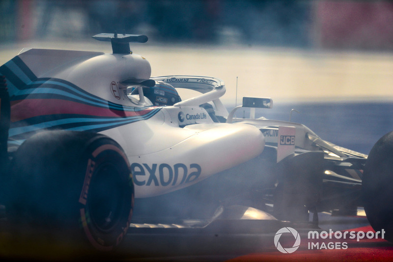 Lance Stroll, Williams FW41, melintir