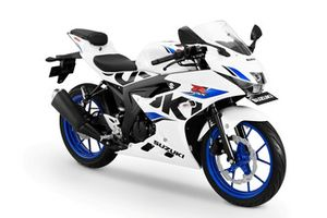 Suzuki GSX-R150 ---- Brilliant White-CW Vigor Blue