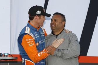 IndyCar-Champion 2018: Scott Dixon, Chip Ganassi Racing Honda, mit Steve Williams, Verizon