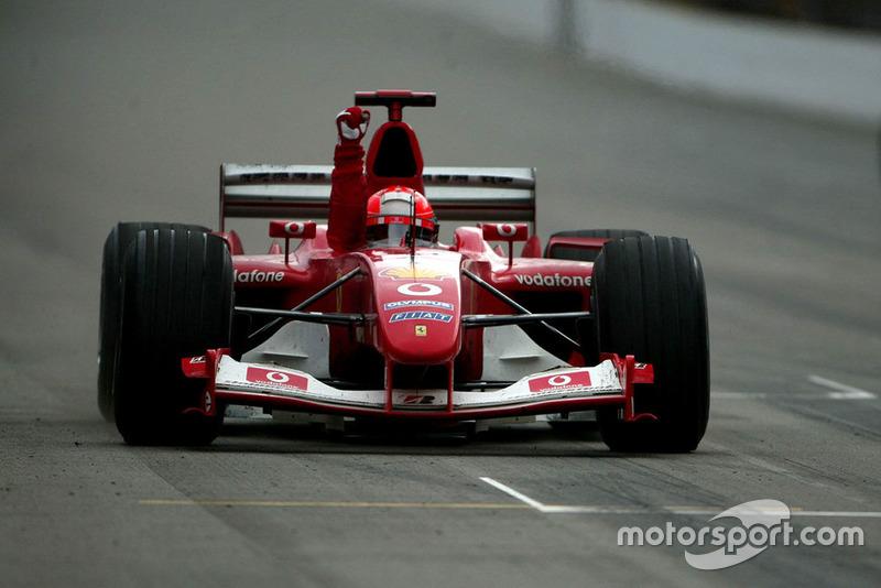 A vitória em Indianápolis, no ano da conquista do hexa, foi o pódio de número 122 de Schumacher