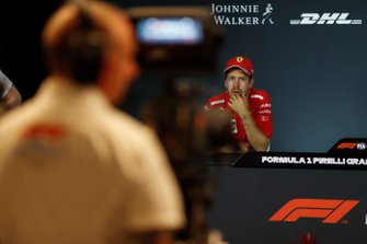 Sebastian Vettel, Ferrari in Press Conference