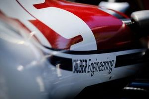 Sauber Engineering logo on the Alfa Romeo Racing C38