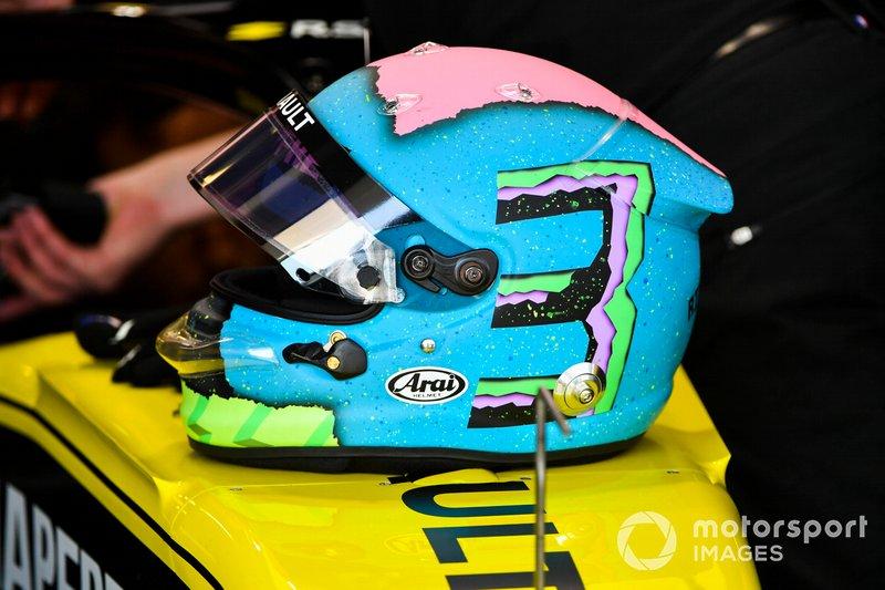 Le casque de Daniel Ricciardo, Renault