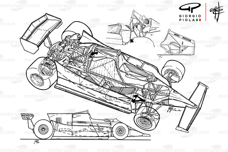 Ferrari 126 CK exploded view