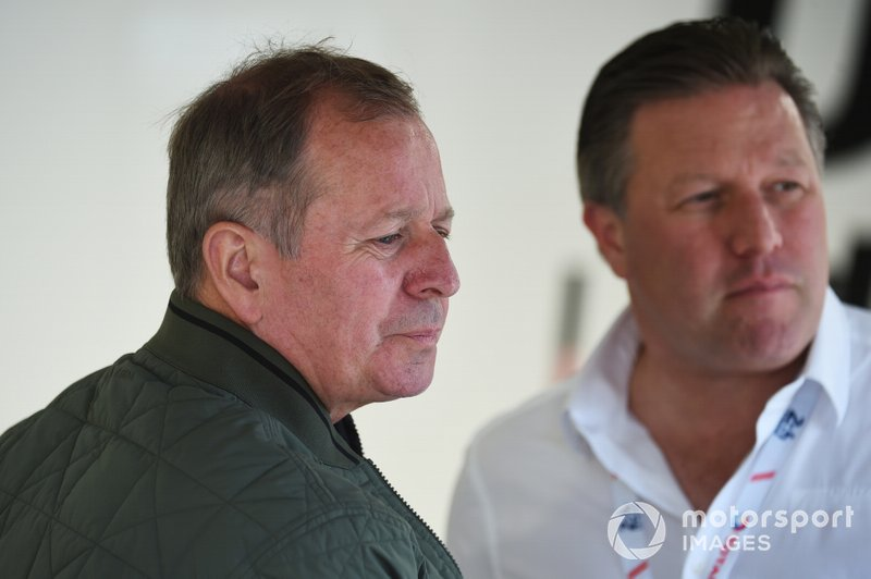 Martin Brundle, Zak Brown, United Autosports